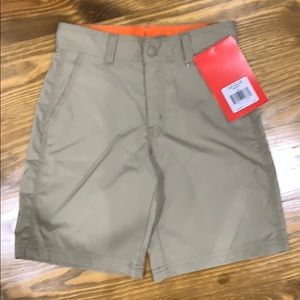 North Face boys khaki shorts
